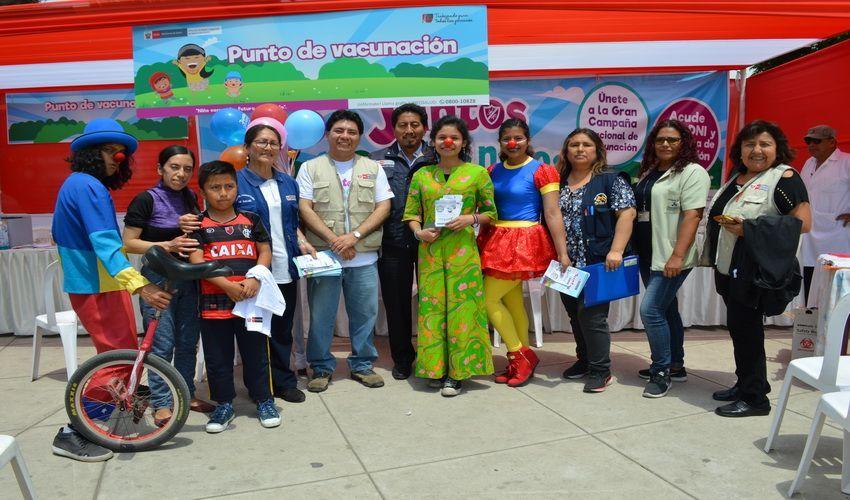 DIRIS Lima Centro participó con gran éxito en la Campaña Nacional de Vacunación