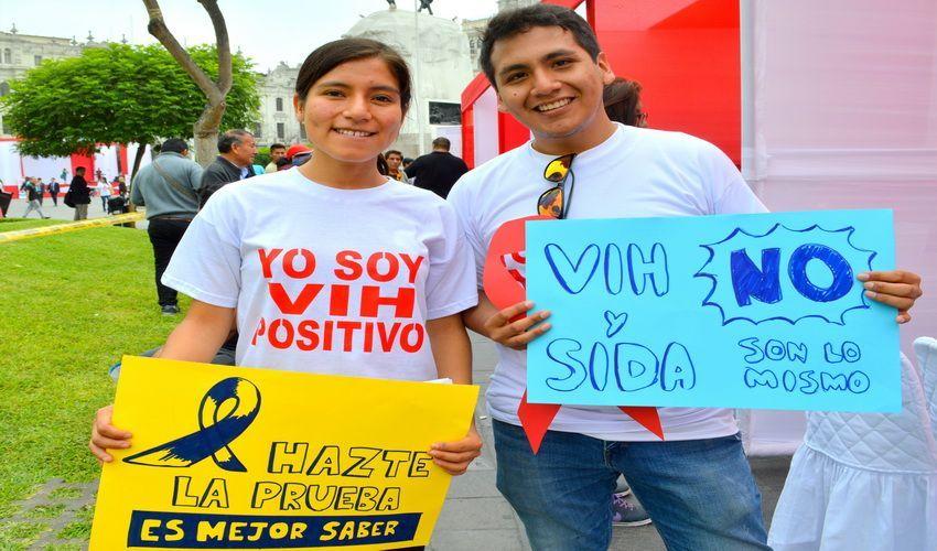 Más de 1800 personas se realizaron tamizaje de VIH en la Plaza San Martín