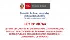 Ley 30763 prensa